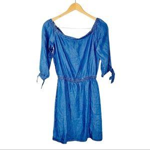 White house Black Market Denim Chambray Mini dress